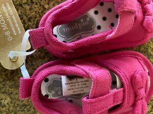 Mud Pie Infant Baby Girl 0-6 Months Pink & Polka Dot Pre-Walker Sandals Shoes