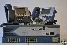 CISCO 2821 CCNA CCNP VOICE LAB IOS 15.1 CME 8.6 3550-24 POE VIC2-2FXO
