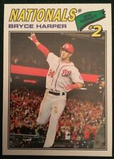 2018 Topps Throwback Thursday Bryce Harper #98 Washington Nationals 1977 Design
