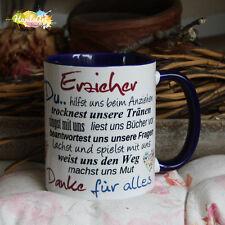 Tasse / Erzieher -BLAU- / Geschenk KITA Kindergarten Weihnachten