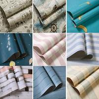 45CM*10M Wood Grain Self - adhesive Wallpaper Desktop Decoration Mediterranean