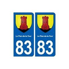 83 Le Plan-de-la-Tour blason autocollant plaque stickers ville arrondis