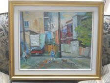 "Armand Tatossian Quebec ""RUELLES DE MONTREAL"" Oil 16"" by 20"""