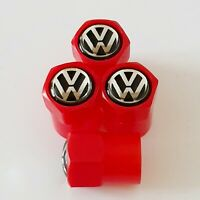 VW Plastic Wheel Valve Dust caps all models Red 7 Colors T5 T4 beetle golf polo