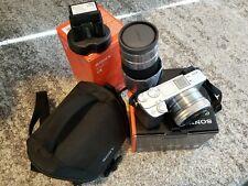 Sony Alpha A6300 24.2MP Digital Camera Silver Kit with 55-210mm Zoom Lens Bundle