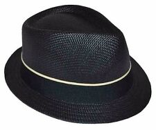 Black Basic Demanded Straw Fedora Hat Youth Size Cap-8~20-57cm