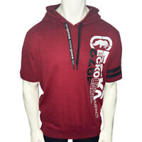 NWT ECKO UNLTD. AUTHENTIC MEN'S RED HOODIE SHORT SLEEVE HOODED T-SHIRT SIZE L