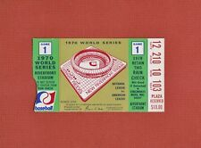1970 WORLD SERIES TICKET STUB Game 1 - Cincinnati REDS vs. Baltimore ORIOLES