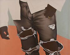 FINE ART PRINT of Original Oil Painting KANYE WEST Ripped Jeans Fashion SIGNED