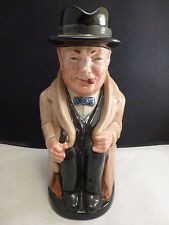 "WINSTON CHURCHILL ENGLAND VINTAGE ROYAL DOULTON 8360 STAMPED 8.5"" MUG PITCHER"
