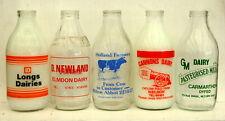 20 lovely pint milk bottles ....all different : dairy