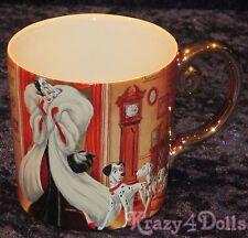 Disney Designer Fairytale Doll Collection Cruella De Ville Coffee Mug NEW