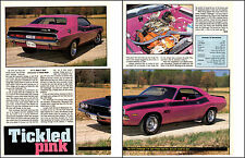 1970 DODGE CHALLENGER T/A 340-6  ~  NICE 2-PAGE MUSCLE CAR ARTICLE / AD