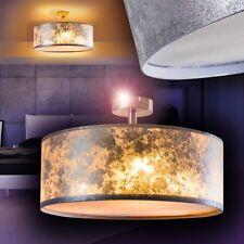 Design Deckenstrahler Stoff Deckenleuchte Deckenlampe Deckenleuchten silber 40cm