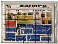 VERLINDEN 618 - 1/35 DESERT STORM ROAD SIGN - NUOVO