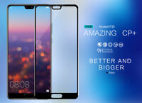 100% Genuine Tempered Glass Film FULL Screen Protector for Huawei P20 Lite BLACK