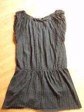 Robe COTELAC t 1 = 38-40 ou 40 chinée gris foncé plissé permanent /  tunique