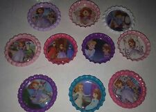 10 Sophia The First bottle cap magnets Disey junior cupcake toppers refrigerator