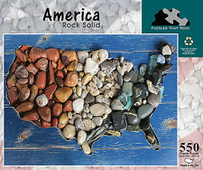 America Rock Solid Map 550 pc Jigsaw Puzzle New Sealed Box