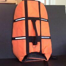 Dog Swimming Boating Life Jacket Unbranded Orange size Large Approx 30- 44 lbs