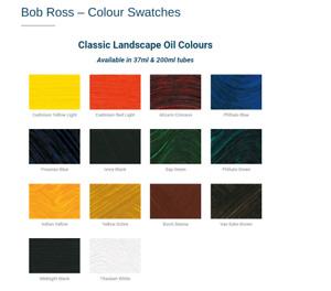 Bob Ross 200ml Landscape Oil Colour - Individual Tubes