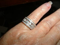 HSN ABSOUTE CZ WIDE BAND RING SIZE 5 MARKED DOWN!