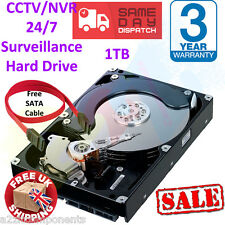 "1TB Video Sorveglianza/a NVR/DVR/PC SATAIII interno 3.5"" HDD Hard Disk Drive *** NUOVO *** + Cavo"