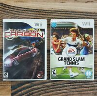 Lot of 2 Nintendo Wii Games EA Sports Grand Slam Tennis & Need for Speed Carbon