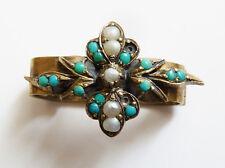 Coulant passant de collier ancien russe Russie 19e siècle vermeil turquoise