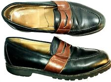 75af53d9cb1 FootJoy Classics Mens Black Brown Leather Casual Penny Loafer Shoes Sz 10.5  C