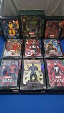 "9 Marvel Legends 12"" Figures, Hulk, Deadpool, Wolverine, Spiderman, Ironman."
