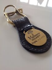 Mulberry Rare Black Congo Vintage Keyring In New Condition