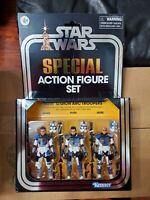 "STAR WARS CLONE WARS 501st LEGION ARC TROOPERS Hasbro PulseCon 3.75"" Figure Set"
