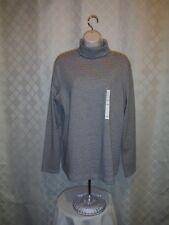 Long Sleeve Turtleneck XXL Croft & Barrow Black Striped 60% cotton 40% polyester