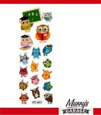 Hiboux, Owls, Hibou Autocollant Set, Étiquette, Autocollant, Sticker, DECO mg01a