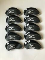 10PCS Golf Iron Headcovers for Mizuno Club Covers Black&Gray Universal 4-LW SET