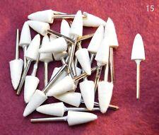 25pc LG Arrow Points Felt Wool Polishing 1/8 shank bits Dremel's or Rotary Tool