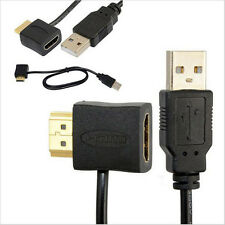 High Quality HDMI Male to Female Adapter USB 2.0 Male Charger Cable 50CM