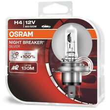 OSRAM H4 472 12V 60/55W Night Breaker Silver +100% Car Headlight Bulbs Twin Pack