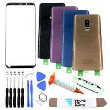 For Samsung Galaxy S9/S9 Plus Front Screen Glass Back Replacement Cover Door Kit