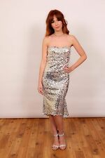 Beautifly silver sequin wiggle dress cocktail dress Prom Occasion dress