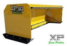 8' Xp30 snow pusher boxes with pullback bar - skid steer bobcat - Local Pick Up