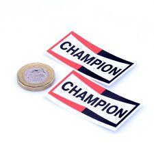 Champion Spark Plugs Autocollants Classique Voiture Moto Racing Vinyle Autocollants 50 mm x2