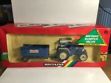Britains Farm 5004 5610 Ford Tractor & Trailer Gift Pack In Original Box 1986