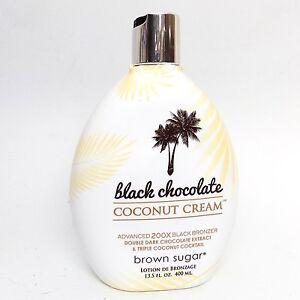 Brown Sugar BLACK CHOCOLATE Coconut Cream 200X Bronzer Tanning Bed Lotion 13.5oz