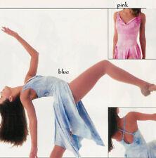 Pink Lyrical Ballet Dance Dress Costume Tie Dye Adult XL