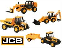 JCB Construction Vehicles Toy Series Digger Dump Truck Tractor Trailer Boys Gift
