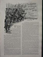1896 Ilustrados Artículo ~ Real Escocia GRISES ~ SEGUNDA 2º DRAGOONS soliders