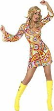 Smiffys - Costume Hippie annees 60 Multicolore Taille S