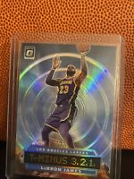 Lebron James 2019-20 Donruss Optic T-Minus 3,2,1 SILVER Prizm LA Lakers Plus 3